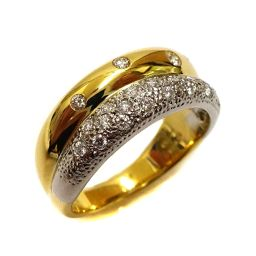 TASAKI Tasaki pt900 / k18 K Main Ring / Ring Pt900 Platinum / K18 Yellow Gold / Diamond Jewelry No.16.5 Gold Platinum Ladies [Used]