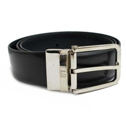 Dunhill Dunhill Reversible HPM100A42 Belt Embossed Leather / Calf Black Men [Used]