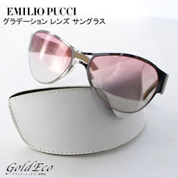 EMILIO PUCCI 【Emilio Pucci】 Gradient Lens Sunglasses Plastic Metal Leather Apparel Multi