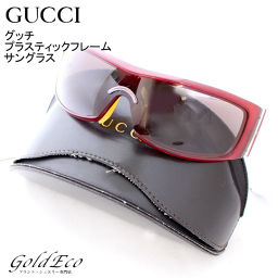 GUCCI 【Gucci】 Plastic frame sunglasses GG1549 / S Red D metal fittings Red White Brown Women's Men