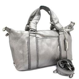 COLE HAAN Colehaan 2WAY handbag leather silver women [pre]