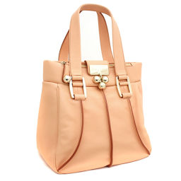 CELINE Celine Tote Bag Leather Orange Ladies [Used]