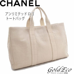CHANEL【シャネル】 アンリミテッド ロゴ トートバッグ ハンドバッグ アイボリー ホワイト COCO レディース 白