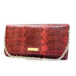 GUCCI Gucci fold wallet 170426 wallet chain Python Red Ladies 【pre-owned】