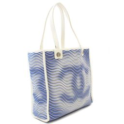 CHANEL Chanel Cocomark Tote Bag Canvas / Leather Blue White Ladies [Pre]