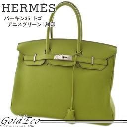 HERMES【エルメス】バーキン35 トゴ アニスグリーンI刻印 ハンドバッグライトグリーン 黄緑 レディース【中古】