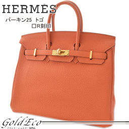 HERMES [Hermes] Birkin 25 Togo □ R stamped (2014 production) mini handbag ladies' orange [pre-owned] HERMES