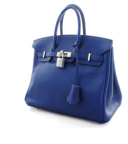 HERMES Hermes Birkin 25 tote bag □ R engraved 2014 manufactured handbag Vau Swift Blue Safir Women [pre-owned]
