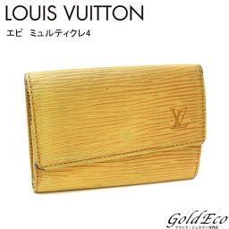 LOUIS VUITTON 【ルイヴィトン】エピ ミュルティクレ4 4連キーケースM63819 イエロー 黄色 小物 【中古】