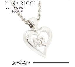 NINA RICCI【ニナリッチ】ハートペンダント ネックレスアクセサリー シルバー メッキレディース【中古】