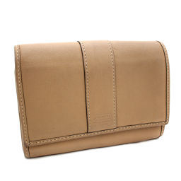 COACH Coach Two-fold wallet Leather Brown Ladies [pre-owned]