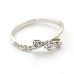 Samantha Tiara Samantha Tiara Ribbon Ribbon Ring / Ring Pt900 Platinum / Diamond Jewelry No. 11 Silver Women's [pre-owned]