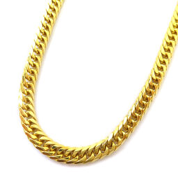 no brand Kihei 6-sided double Total length about 50.5cm About 30g Necklace K18 gold Jewelry Yellow gold Unisex [Used]