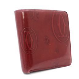 CARTIER カルティエ ハッピーバースデー 二つ折り財布 レザー ボルドー ユニセックス【中古】