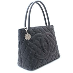 CHANEL Chanel Reprint Tote Matrasse A01804 Tote Bag Caviar Skin Black Women [Pre]