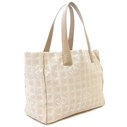 CHANEL Chanel Tote MM New Travel Line A15991 Tote Bag Nylon / Leather Beige Women [Pre]