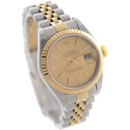 ROLEX ロレックス デイトジャスト Ref:79173/A番 腕時計 シャンパンゴールド文字盤 自動巻き コンビ レディース【中古】