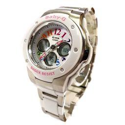 CASIO Casio BABY-G Quartz MSG-302C Watch Silver Dial Quartz White Silver Ladies [Used]