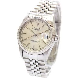 ROLEX ロレックス デイトジャスト 16234/T番 腕時計 シルバー文字盤 自動巻き シルバー メンズ【中古】