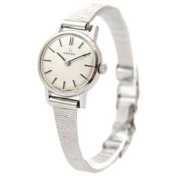 OMEGA Omega antique watch silver dial hand-rolled silver ladies [pre]