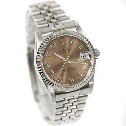ROLEX ロレックス デイトジャスト 68274 U番 腕時計 ピンク系文字盤 自動巻き WG シルバー ボーイズ【中古】