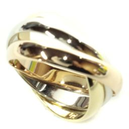 CARTIER Cartier Trinity Triple Color Ring / Ring K18 Yellow Gold Jewelry No.10 WG / YG / PG Ladies [Used]