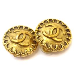 CHANEL Chanel Cocomark Round Earrings GP Accessory Gold Ladies [Used]