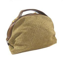 BORBONESE Volbonese quail pattern handbag suede / leather brown women [pre]