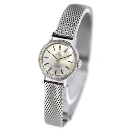 OMEGA オメガ ヴィンテージ デビル カットガラス 腕時計 シルバー文字盤 手巻き シルバー レディース【中古】