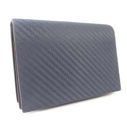 Dunhill Dunhill chassis business card holder L2V547N card case leather navy dark brown men [used]