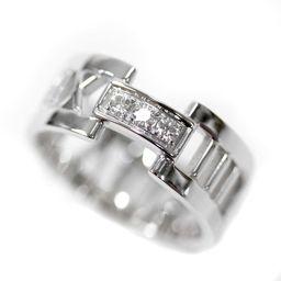 TIFFANY&Co. ティファニー アトラス リング・指輪 K18ホワイトゴールド/ダイヤモンド ジュエリー 14号 WG レディース【中古】