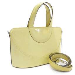 BVLGARI Bvlgari 2WAY Shoulder Handbag Leather Yellow Ladies [Used]
