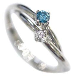 4℃ ヨンドシー 2連 ダブル リング・指輪 Pt950プラチナ/ダイヤモンド ジュエリー 8号 プラチナ レディース【中古】