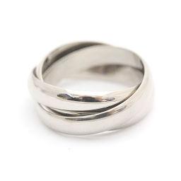 CARTIER カルティエ 3連リング リング・指輪 K18ホワイトゴールド ジュエリー 5号 ホワイト レディース【中古】