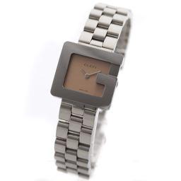 GUCCI グッチ Gロゴ 3600L 腕時計 ブラウン文字盤 クオーツ シルバー レディース【中古】