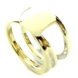 TIFFANY & Co. Tiffany Design Ring / Ring Silver 925 Accessory No. 17 Silver Gold Ladies [Used]