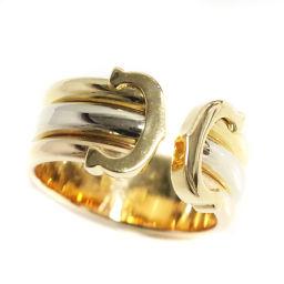 CARTIER カルティエ Cリング スリーカラー リング・指輪 K18ゴールド ジュエリー 14.5号 YG/WG/PG ユニセックス【中古】