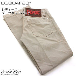 DSQUARED2 【Dsquared】 Womens Bootcut Pants 38 Size Beige Cotton Cargo Pants Apparel