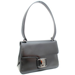 Salvatore Ferragamo Salvatore Ferragamo Gancini P21-7643 Shoulder Bag Leather Black Ladies [pre-owned]