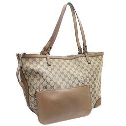 GUCCI Gucci with pouch 247209 tote bag GG canvas beige women [pre]
