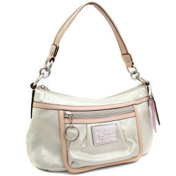 COACH COACH Poppy 2WAY 14534 Shoulder bag leather / patent leather gold pink women [pre]
