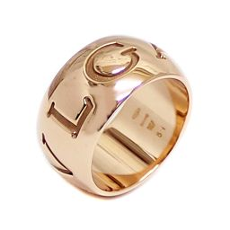 BVLGARI ブルガリ モノロゴ リング・指輪 K18ピンクゴールド ジュエリー 10号 PG レディース【中古】