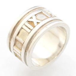 TIFFANY&Co. ティファニー アトラス ワイド リング・指輪 シルバー925 アクセサリー 9号 シルバー レディース【中古】