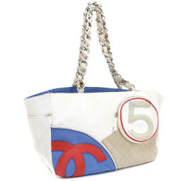 CHANEL Chanel NO.5 Cocomark A24804 Shoulder bag canvas white ladies [pre-owned]