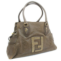 FENDI Fendi Etnico Logo 8BN162 Tote Bag Leather Brown Ladies [pre]