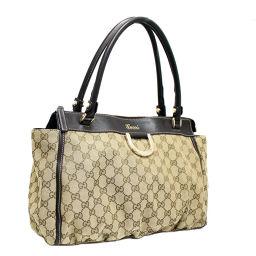 GUCCI Gucci GG canvas shoulder shoulder 189831 tote bag canvas / leather beige / brown women [pre]