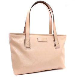 GUCCI Gucci GG Imprint 211138 Tote Bag PVC / Leather Pink Ladies [Pre]