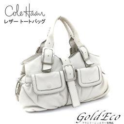 Colehaan 【コールハーン】レザー トートバッグ ホワイト 【中古】ショルダーバッグ レディース ハンドバッグ 白 バッグ
