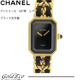 【送料無料】CHANEL 【シャネル】プルミエール レディース 腕時計クォーツ ブラック文字盤 Lサイズ【中古】ブラック