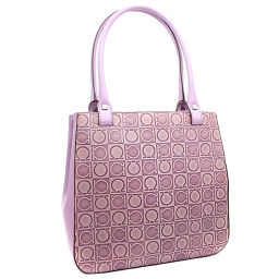 Salvatore Ferragamo Salvatore Ferragamo Gancini AU-21 1237 Tote Bag Leather Purple Ladies [pre-owned]